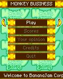 Monkey Business ExEn Game main menu, select play to start and select the game mode (tutorial, tournament, adventure or multiplayer)