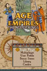 Age of Empires: The Age of Kings Nintendo DS The title screen