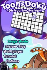 Toon-Doku Nintendo DS The title screen