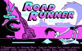 Road Runner DOS Title screen (CGA)