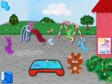 Blue's Clues: Blue Takes You to School Windows Out on the playground with Orange Kitten