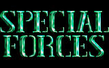 Special Forces DOS Title screen.