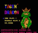 Tagin' Dragon NES Title screen and game selection