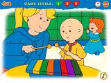 Caillou: Magic Playhouse Windows When you choose the right notes, Caillou's sister is happy for you