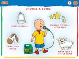 Caillou: Magic Playhouse Windows Choose the song you want Caillou to sing