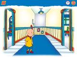 Caillou: Magic Playhouse Windows Heading across the hallway - most lights turn on and off with a mouse-click