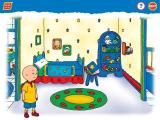 Caillou: Magic Playhouse Windows Caillou's sister's room, and the Silly Stories book