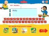 Caillou: Magic Playhouse Windows Sign in and choose a theme for the treasures you will collect