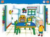 Caillou: Magic Playhouse Windows In the kitchen - click the crayons to access the printable creativity pages