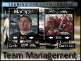 Touring Car Champions DOS Team options