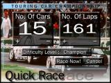 Touring Car Champions DOS Quick race menu