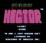 Starship Hector NES American title screen
