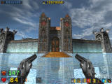 Serious Sam: The Second Encounter Windows ... and from the front gate (every inch between covered in the blood of Mental's forces).