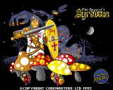 The Quest of Agravain Amiga Title screen