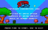 Seymour Goes to Hollywood DOS Title screen