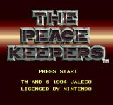 The Peace Keepers SNES Title screen