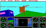 "Sierra's 3-D Helicopter Simulator DOS ""chase-copter"" view - EGA 320x200"