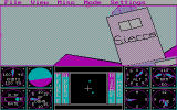 Sierra's 3-D Helicopter Simulator DOS The Sierra logo on a building - CGA