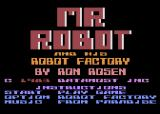 Mr. Robot and His Robot Factory Atari 8-bit Main Menu