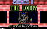 RoboMaze II: The Lobby DOS Title Screen
