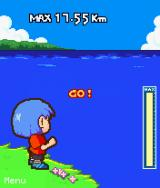 Skipping Stone J2ME Throw by hitting as high as possible on the power bar.