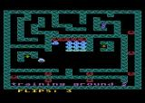 Rebound Atari 8-bit Level 2 - the 'S' shapes are switches that reverse the animation and direction of everything