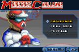 Motocross Challenge Game Boy Advance Mode selection