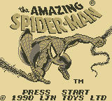 The Amazing Spider-Man Game Boy Title Screen