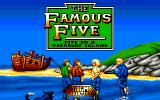 The Famous Five: Five on a Treasure Island Amiga Title screen