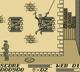 The Amazing Spider-Man Game Boy What's that web attached to?