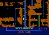 Spelunker Atari 8-bit Taking an elevator down.
