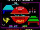 Superstar Indoor Sports ZX Spectrum Loading screen