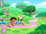 Dora the Explorer: Fairytale Adventure Windows And we're off on the path through Fairytale Land - click on parts of this scenery to see short animations
