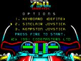 750cc Grand Prix ZX Spectrum Title screen (48k)