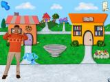 Blue's Clues Preschool Windows Joe walks you to each location, even in Blue's neighborhood one can't be too careful!