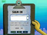 SpongeBob SquarePants: Typing Windows Sign in.