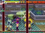 Sengoku 3 Neo Geo Kurenai strikes in multiple directions.