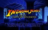 Indiana Jones and the Fate of Atlantis DOS Title screen