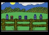 Barnyard Blaster Atari 8-bit Shoot some cans and bottles on the fence