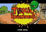 Toxic Crusaders Genesis Title screen