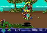 Toxic Crusaders Genesis You can board a helicopter and attack on the ground and in the air.