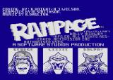 Rampage Atari 8-bit Title screen
