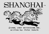 Shanghai Atari 8-bit Title screen