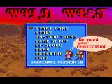 Skunny: In The Wild West DOS Main menu