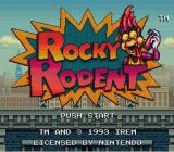 Rocky Rodent SNES Title screen