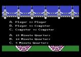 Touchdown Football Atari 8-bit Setting up some game options