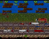 Toado Amiga The third level. Now we are up against a train, a tractor and a crocodile.