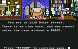 221 B Baker St. Commodore 64 No clues in Holmes's office