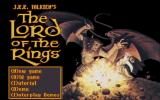 J.R.R. Tolkien's The Lord of the Rings, Vol. I DOS Title screen (CD version)