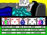 Hollywood Poker ZX Spectrum Sheila won the first round